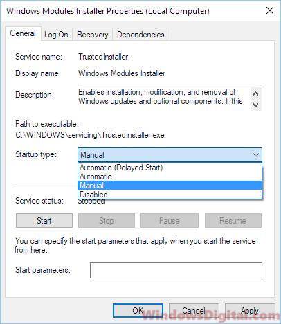Windows Modules Installer Worker High Disk Usage