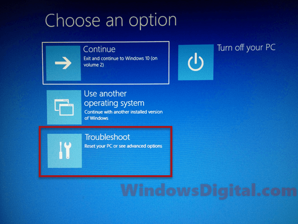 Windows rollback loop after Windows 10 update