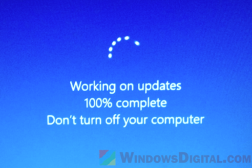 Working on Updates 100% Complete Stuck Windows 10