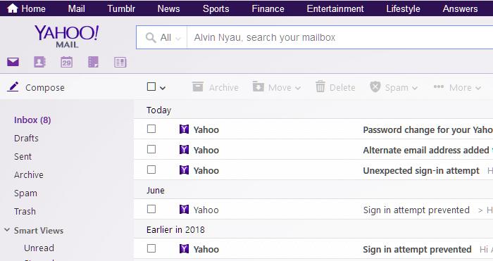 Yahoo Mail Login Inbox Page
