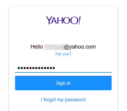 Yahoo Mail login sign in with without password
