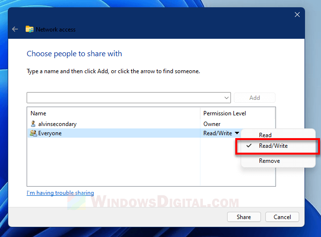 You do not have permission to open this file Windows 11 10