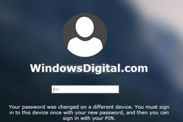 Your password was changed on a different device Windows 10 Hello