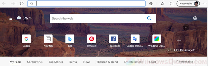 change default search engine of search box in Microsoft Edge