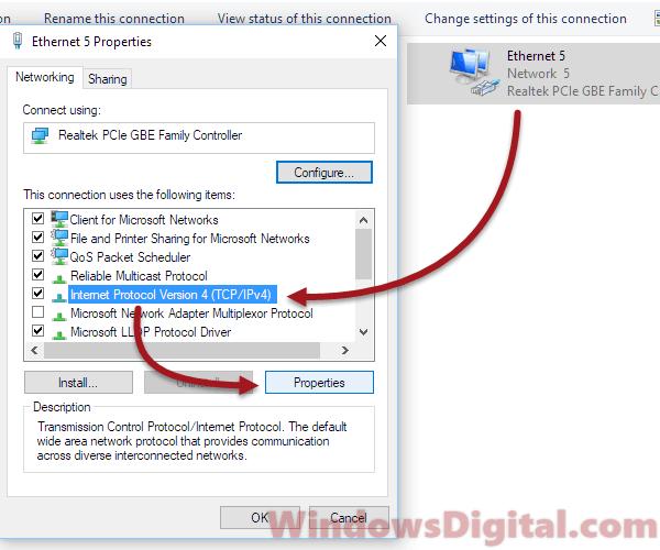 change dns to fix 0x80072ee7 windows 10 update