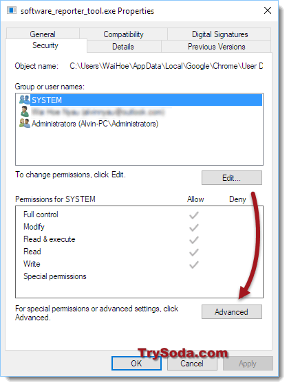 chrome software reporter tool disable