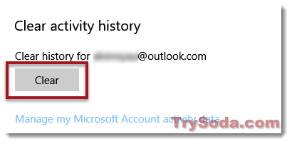 clear activity history explorer.exe crash