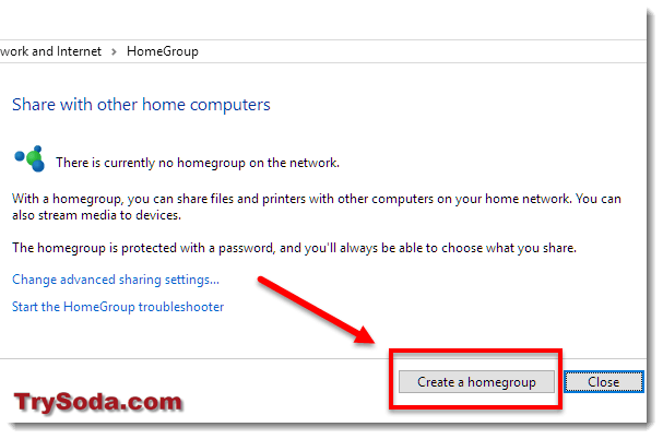 create a homegroup windows 10