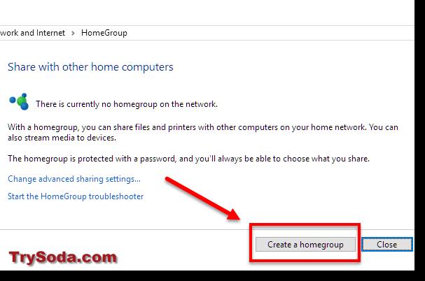 create a homegroup windows 10