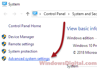 restore windows 10 advanced system