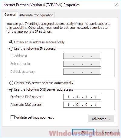 error code 0x80072ee7 win10 update cloudflare dns