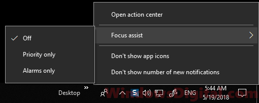 focus assist help game lag windows 10