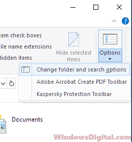 folder and search options reopen apps after restart