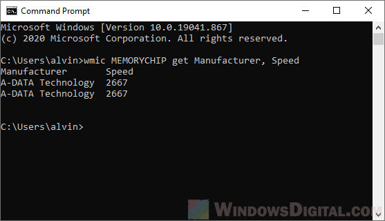 how to check ram type ddr3 ddr4 ddr5 in windows 10 using cmd