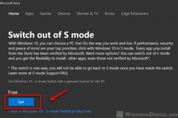 how to get Windows 10 out of S mode for free