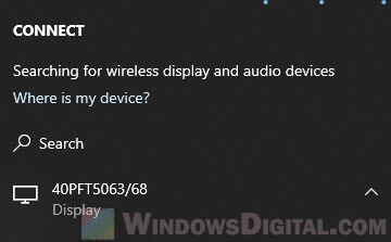 how to mirror screen from Windows 10 PC wirelessly