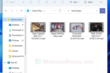 how to search only video files in Windows 11