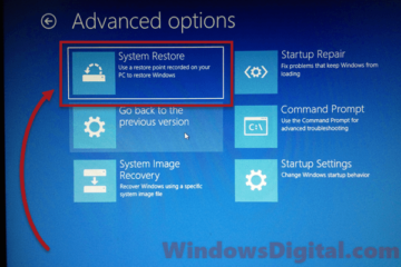 how to system restore windows 10