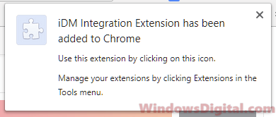 iDM integration extension for Chrome Download