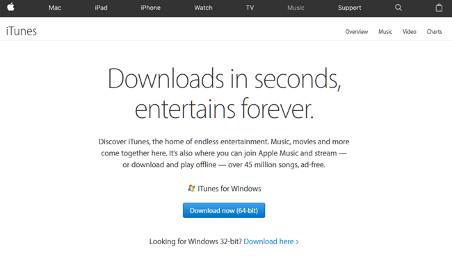 iTunes Free Download for Windows 10 64 bit PC Latest Version