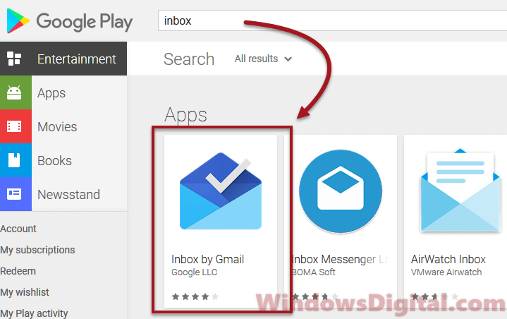inbox by gmail app login sign in android ios