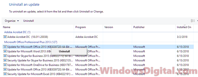 mouse not working after windows 10 update KB