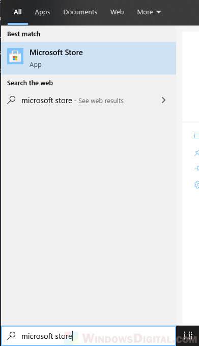 open Microsoft Store download fb messenger