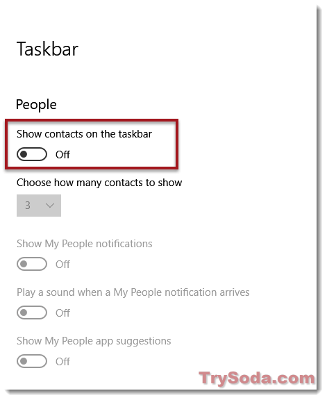 remove people app windows 10 taskbar