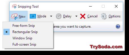 snipping tool take screenshot windows 10