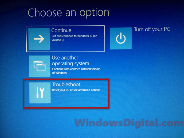 troubleshoot system restore windows 10