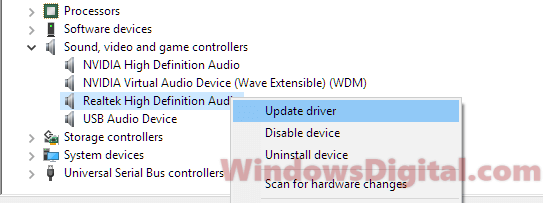 update sound card Wizard could not start microphone windows 10
