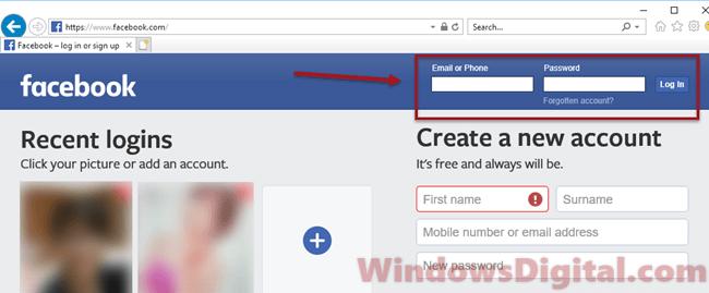 Fb com login www Facebook